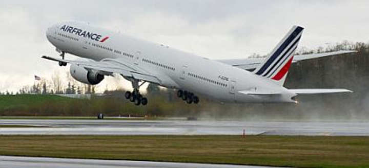 Boeing 777 widebody passenger jetliner pioneer Air France takes delivery of its 60th long-range 777-300ER