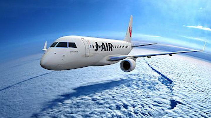 Embraer to supply one more E170 passenger jet for JAL regional routes in Japan