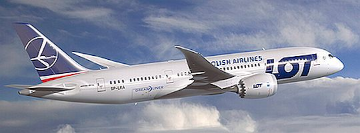 Monarch Aircraft to handle airframe maintenance on LOT Polish Airlines fleet of eight Boeing 787 Dreamliners