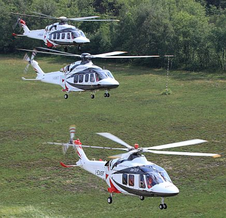 AgustaWestland takes orders for 70 light- and medium-lift helicopters at Farnborough for oil and gas, news, and police