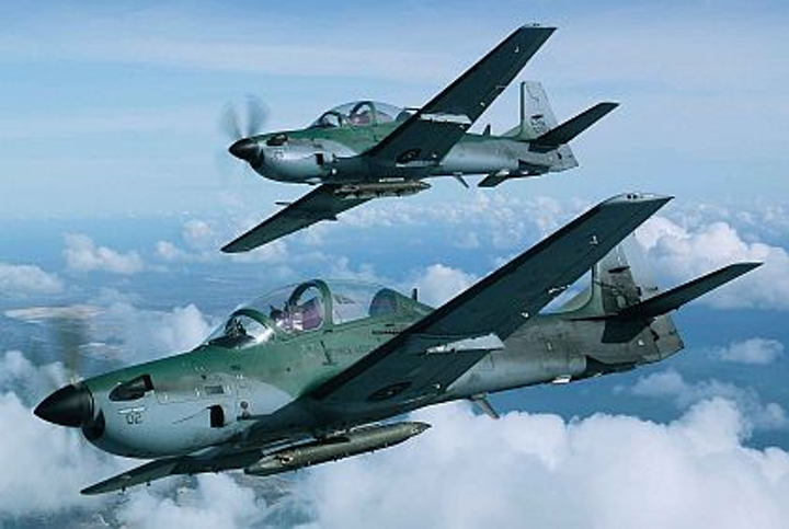 Embraer sells eight Super Tucano turboprops at Farnborough Tuesday, bringing its show total to 15