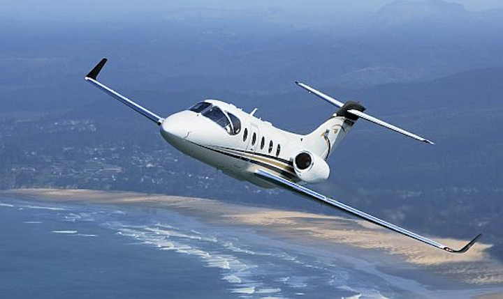 Hawker Beechcraft installs first Rockwell Collins Pro Line 21 avionics upgrade for Hawker 400XPR business jets