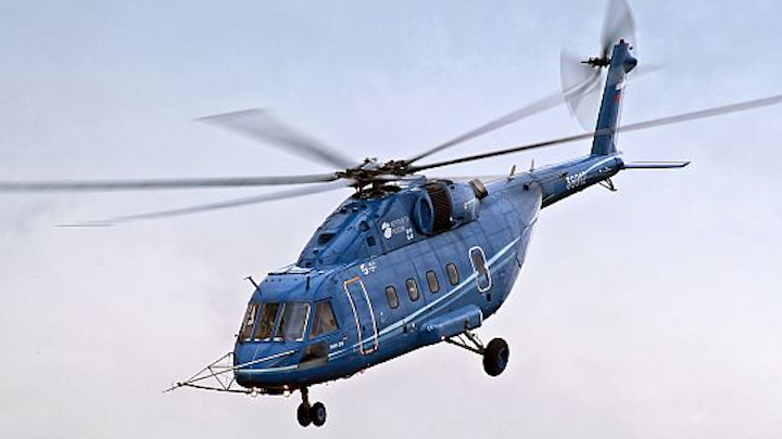 Russian Mi-38 medium-lift helicopter flies higher than 28,000 feet to set new helicopter altitude record