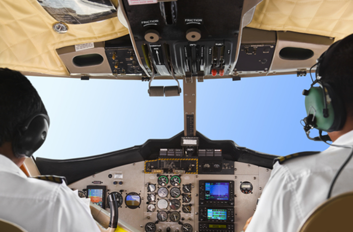 Head up vs. head down displays for pilots