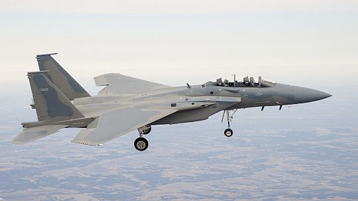 Maiden flight completed for Saudi F-15SA jet fighter with fly-by-wire flight control, digital EW, infrared search avionics
