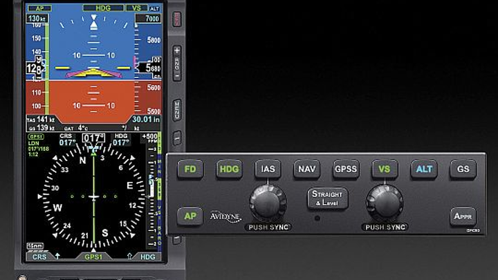 Avidyne gets Brazilian validation of DFC90 digital autopilot in Cessna 182 when interfaced with Aspen flight display