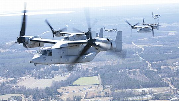 Marines and Air Force ask Bell-Boeing to build 99 new V-22 tiltrotor aircraft in $4.9 billion deal for military planes
