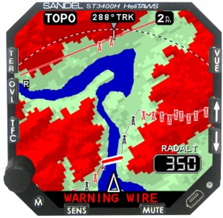 FAA approves Sandel HeliTAWS helicopter terrain awareness & warning system for Part 27 and Part 29 AML-STCs