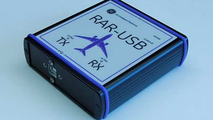 USB adapter for testing ARINC 429-based avionics, bus traffic monitoring, and data recording introduced by GE