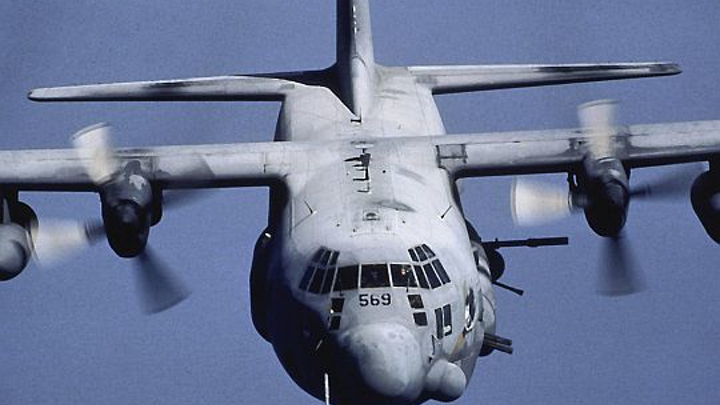 Wind sensors to sample surrounding air to help improve aim of weapons aboard Special Operations AC-130 aircraft gunships