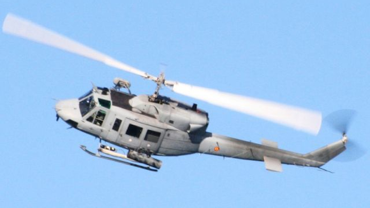 Upgraded AB212 helicopter of the Spanish Navy's 3rd Squadron takes flight
