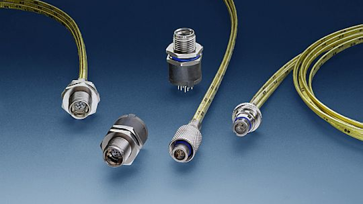 Rugged Ethernet nano circular connectors for airborne networking in UAVs, missiles, and C4ISR introduced by TE