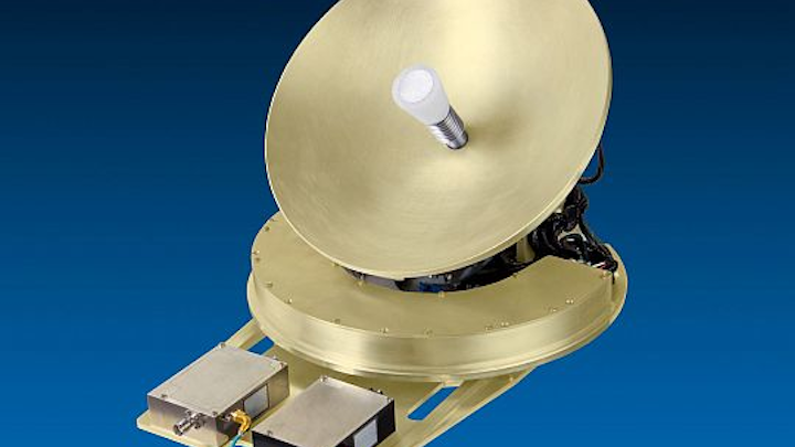 Ka-band VSAT tail-mounted satellite communications antenna for in-flight Internet connectivity introduced by TECOM