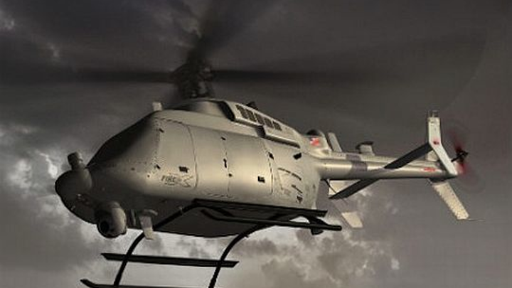 Navy continues effort to extend range of helicopter UAVs; asks Northrop Grumman to build five MQ-8C Fire Scouts