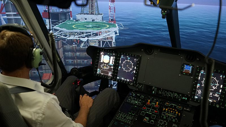 Indra full-flight simulator for Airbus Helicopters EC175 certified, ready to train rotorcraft pilots