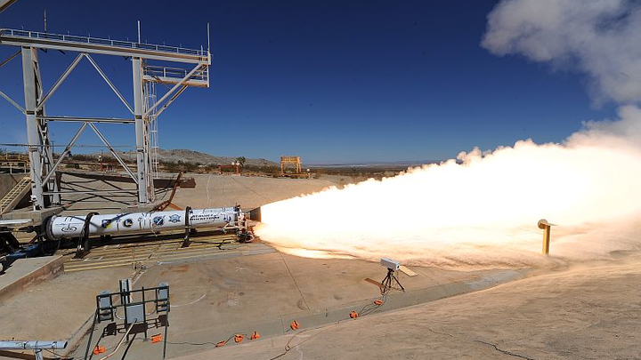 Aerojet Rocketdyne tests rocket motor for Low Earth Orbiting Nanosatellite Integrated Defense Autonomous System