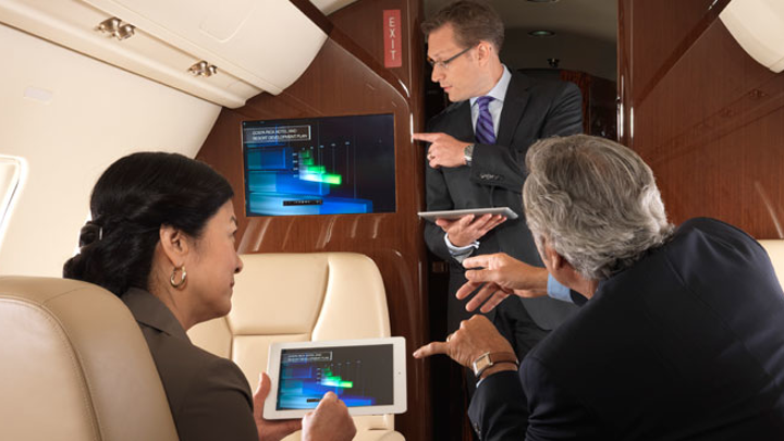 Rockwell Collins Venue, Airshow cabin systems selected for wide-body VIP business jet