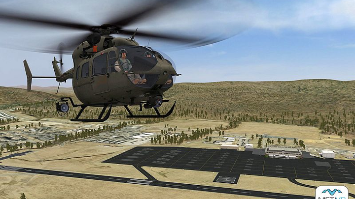 MetaVR visuals selected for U.S. Army National Guard UH-72A Lakota synthetic flight training systems