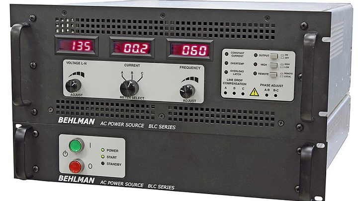 Behlman debuts CE Marked BLC Series AC power supplies for avionic test and power conversion