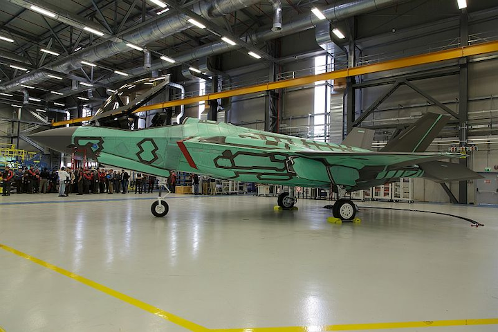 First Italian F-35A rolls off production line