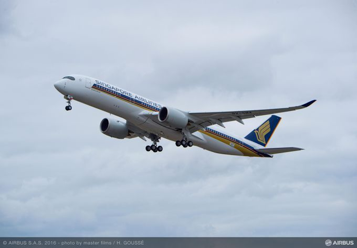 Parker Aerospace to provide maintenance, repair, and spares for Singapore Airlines Airbus A350 fleet