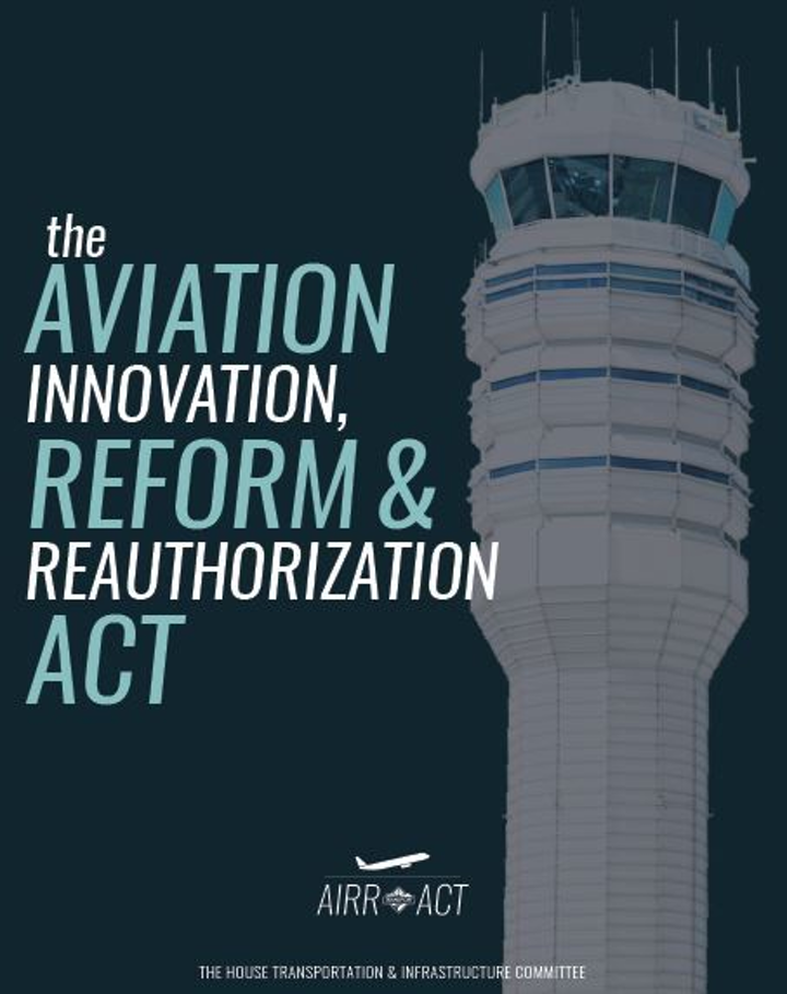 Bill seeks to spin off air traffic control from Federal Government