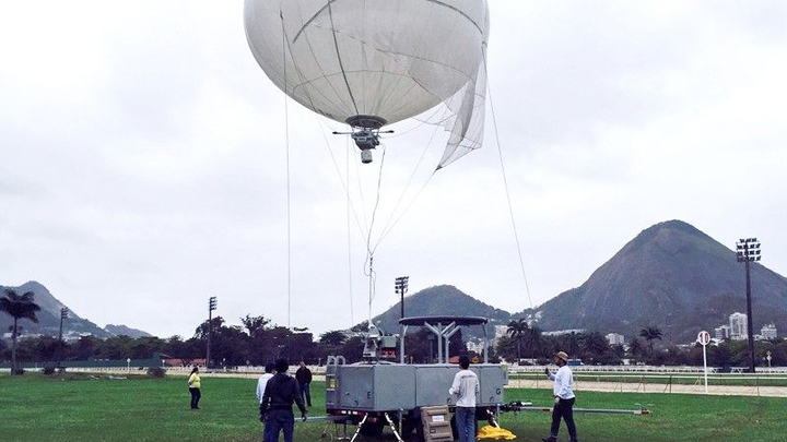 Simera wide-area motion imagery sensor on aerostat to help secure Brazil Olympics