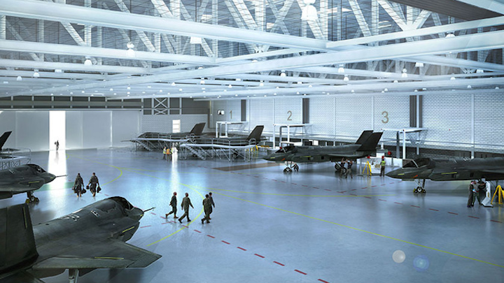 Lockheed Martin contracts BAE Systems to construct F-35 aircraft engineering facilities at RAF Marham