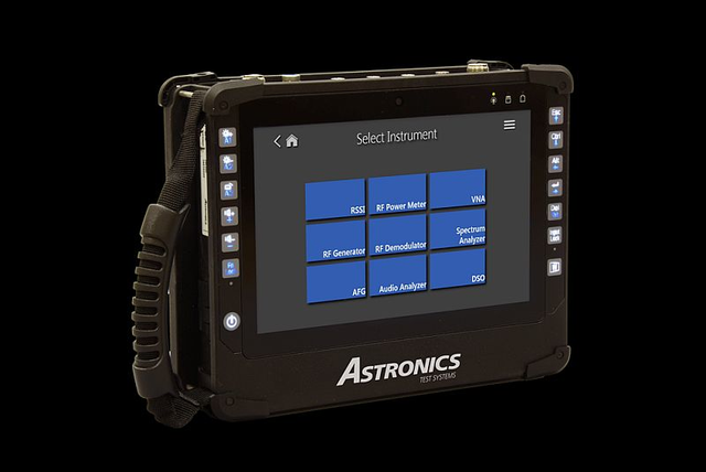 Astronics next-gen, tablet-based radio test set combines nine test