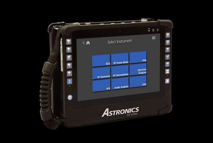 Astronics next-gen, tablet-based radio test set combines nine test capabilities in one device for field radio testing