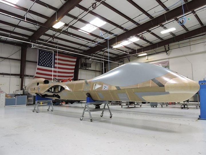 GA-ASI Certifiable Predator B fuselage integration, physical production begins