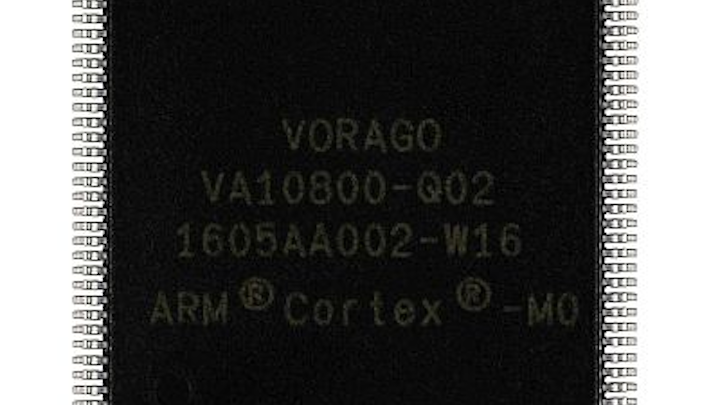 Electronics under test: VORAGO Technologies VA10800 microcontroller in plastic package operates in extreme heat