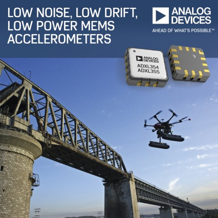 Analog Devices MEMS accelerometers enable early detection of structural defects with UAS in harsh environments