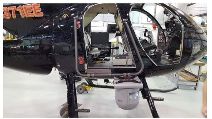 Remote GeoSystems integrates four-sensor gimbal, video recording in Haverfield Aviation MD 500 helicopter