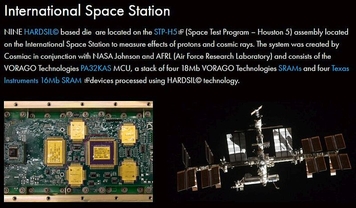 International Space Station study taps radiation-hardened electronics technology from VORAGO Technologies