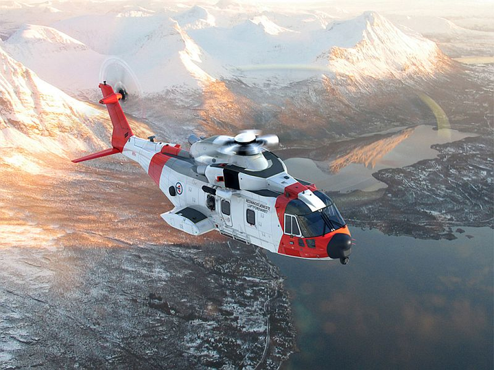 Leonardo Helicopters AW101 Merlin Mk4 with upgraded avionics completes maiden flight