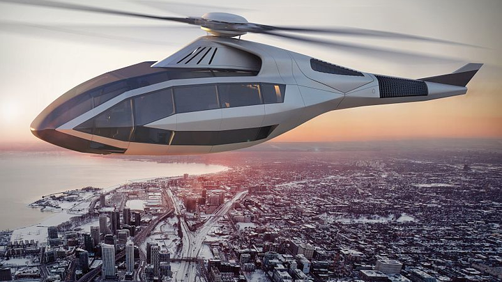 Bell concept helicopter ups safety, performance, pilot and passenger experience