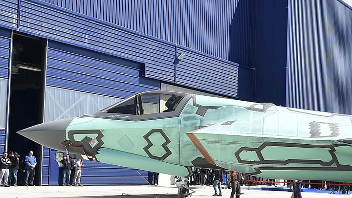 First Italian-built F-35B short take-off/vertical landing aircraft rolls out of Cameri production, MRO facility
