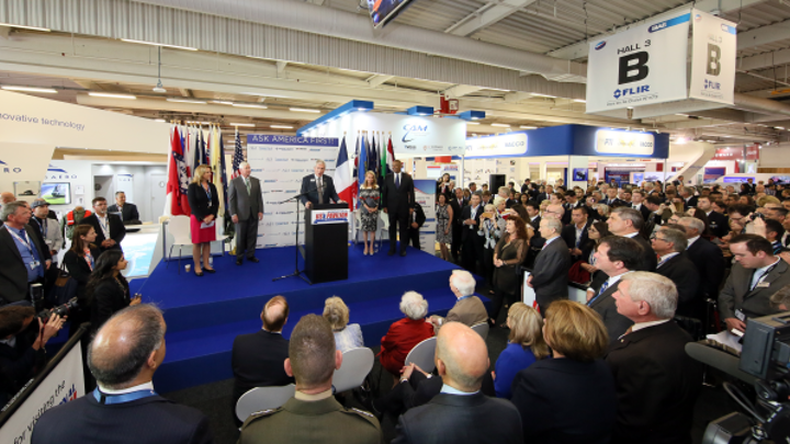Transportation secretary, AIA president, Kallman open U.S.A. Partnership Pavilion at Paris Air Show