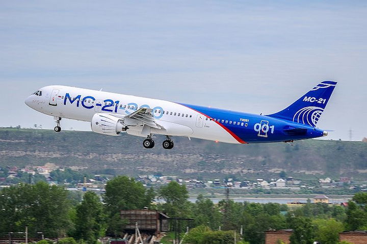 Russian MC-21-300 commercial airliner completes maiden flight