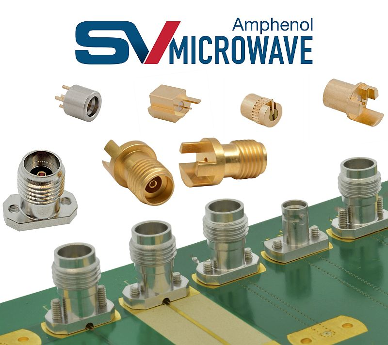 SV Microwave introduces coaxial PCB connectors at Paris Air Show
