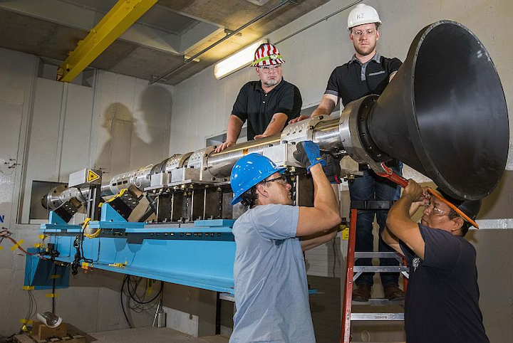 Aerospace test at Sandia goes green: Hopkinson bar technology used in shock tests for rocket parts, avionics