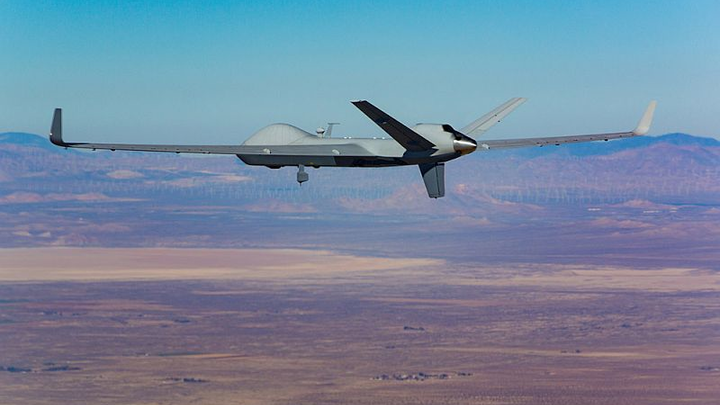 MQ-9B SkyGuardian conducts FAA-approved flight through multiple classes of non-segregated airspace