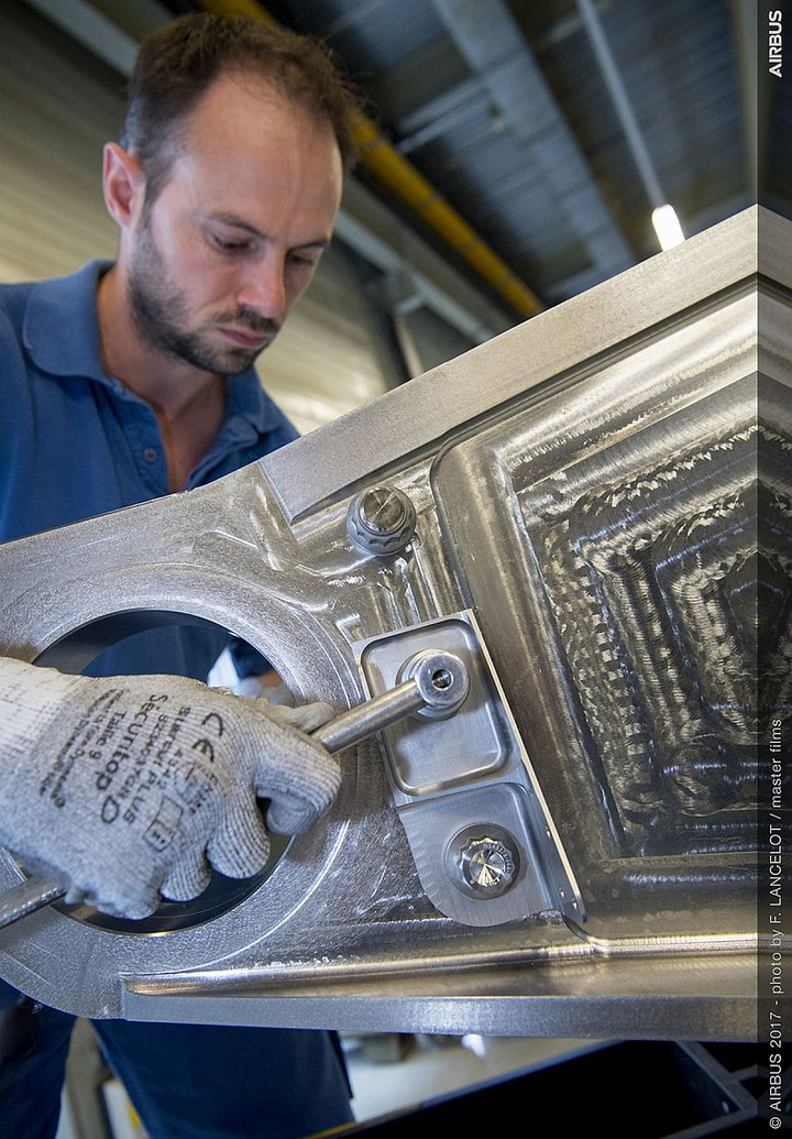 Airbus installs first 3D-printed titanium part by Arconic on production commercial aircraft