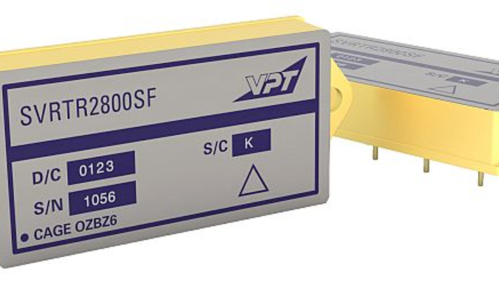 VPT radiation-hardened DC-DC converters for space environments provide wide input voltage range