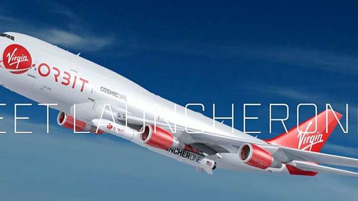 Virgin Orbit tests rocket launch from Cosmic Girl 747-400 carrier aircraft mobile air launch pad