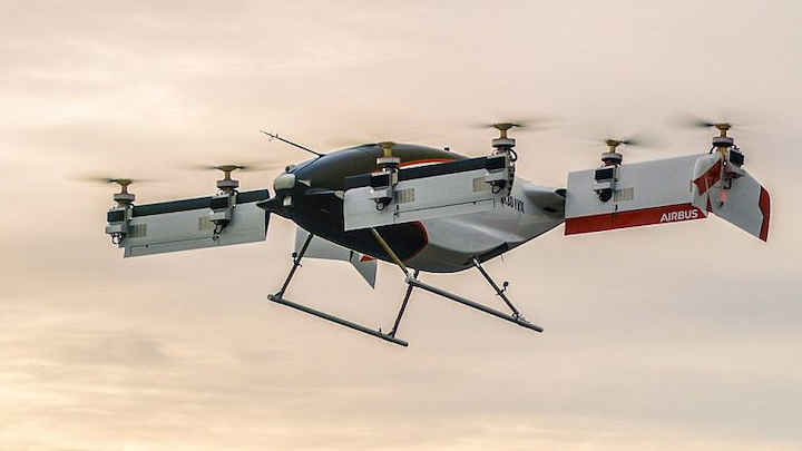 A³ by Airbus Vahana self-piloted, eVTOL aircraft completes first full-scale test flight