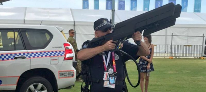 Police officer takes down unmanned aircraft in no-fly zone around Commonwealth Games