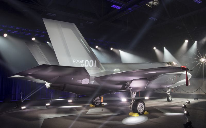 Lockheed Martin rolls out first of six F-35A military aircraft for Republic of Korea