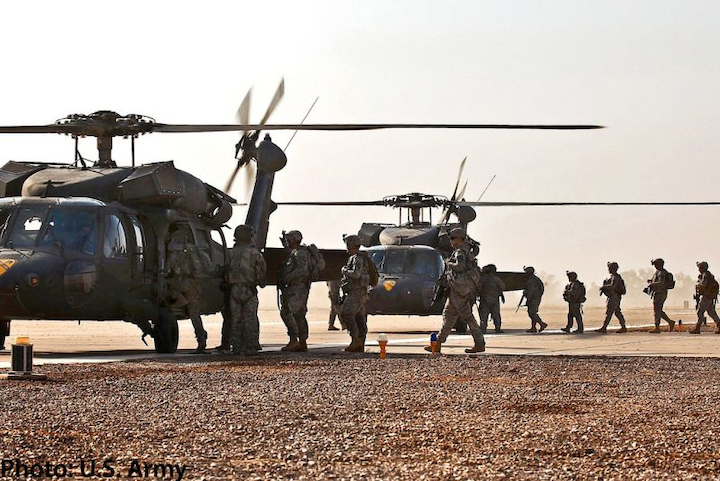 U S  Army's Black Hawk helicopters fitted with Universal